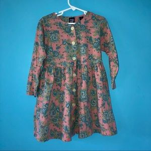 Vintage Gap Floral Button Long Sleeve Dress